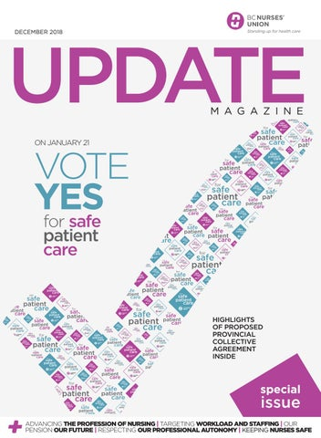 Nine Out Of Ten Nurses Agree >> Bcnu Update Magazine December 2018 Special Issue By Bc Nurses Union