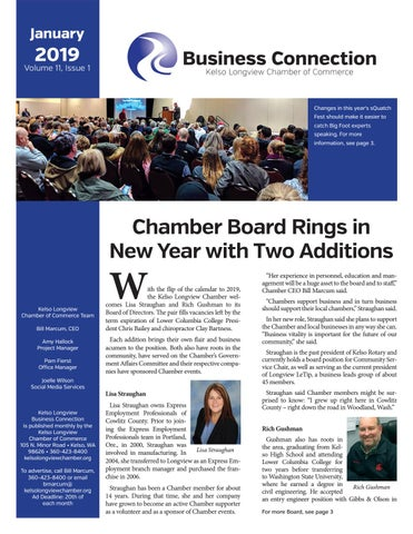 January 2019 Business Connections by Kelso-Longview Chamber