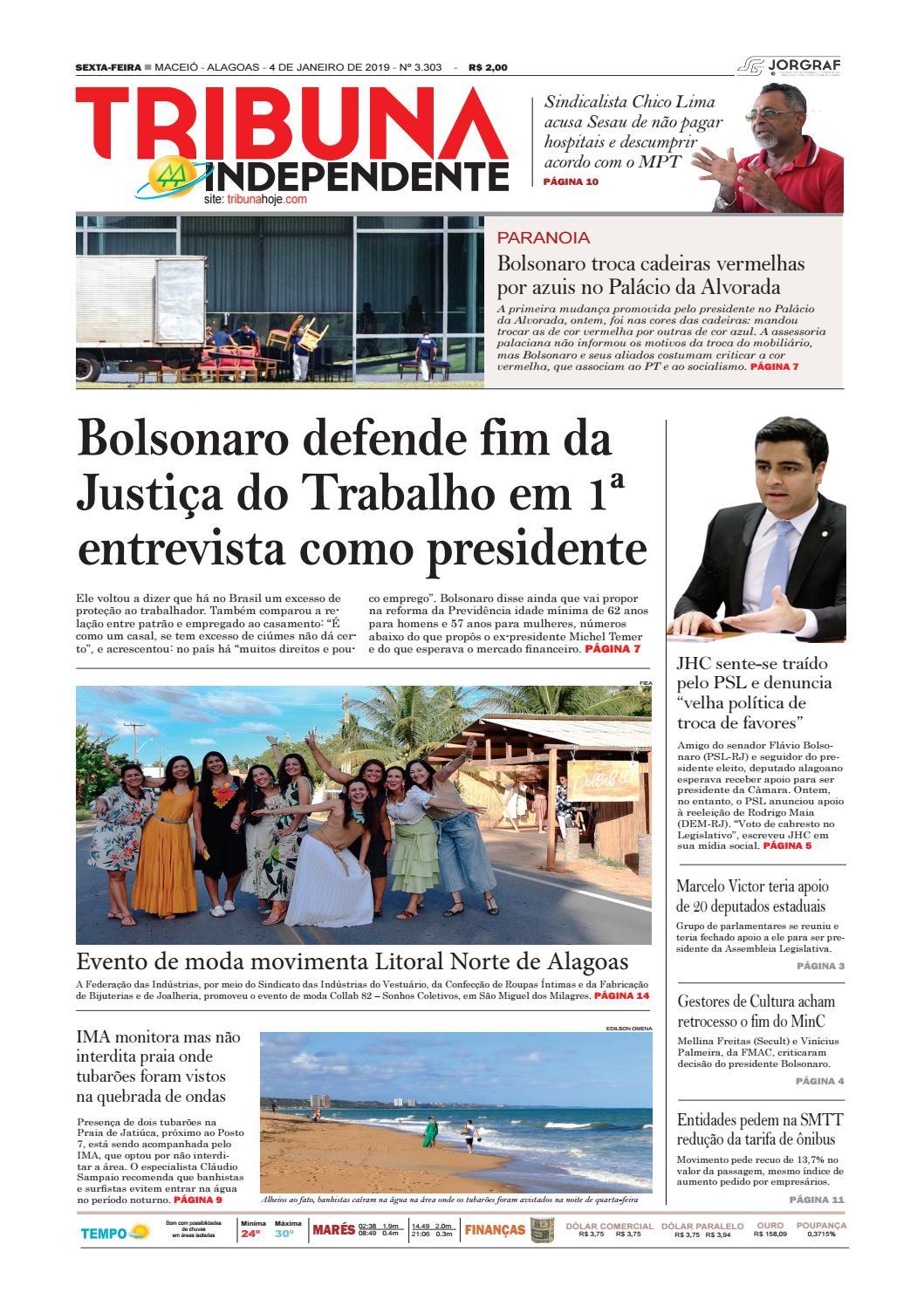 Edição número 3303 - 4 de janeiro de 2019 by Tribuna Hoje - issuu cd88ae5874453