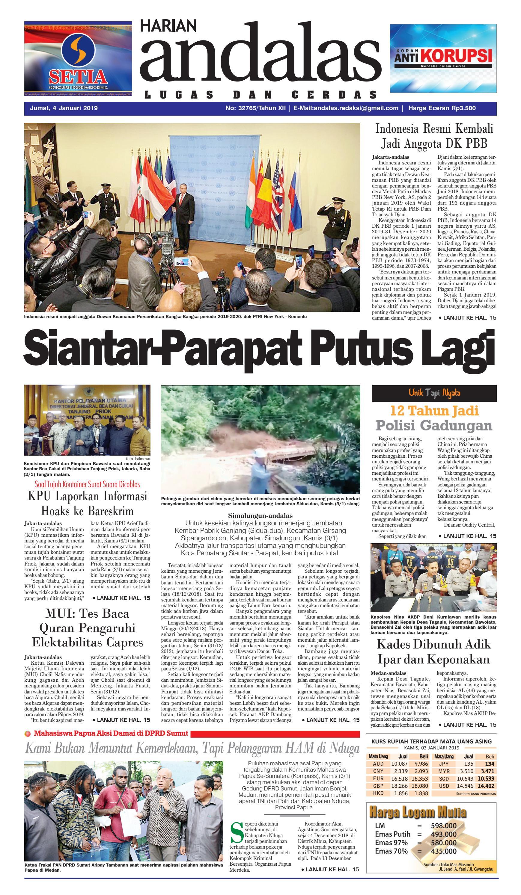 Epaper Harian Andalas 04 Januari 2019