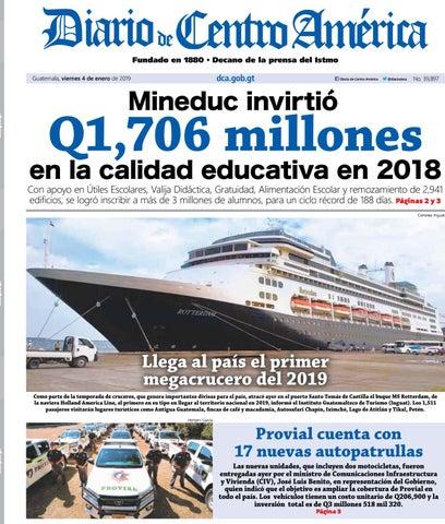 fb9ded04d Edición del Diario de Centro América del 04 de enero de 2019. by ...