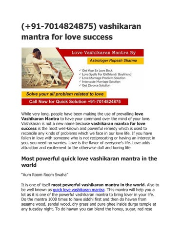 vashikaran mantra for love success +91-7014824875 by Rupeshji sharma
