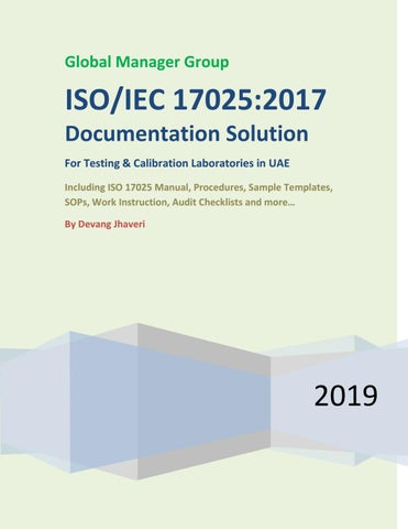 ISO 17025:2017 Documentation Solution in UAE by Global Manager Group