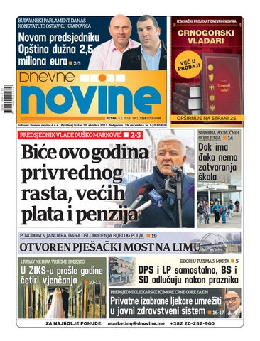 1665873fe094 Page 1. BUDVANSKI PARLAMENT DANAS KONSTATUJE OSTAVKU KRAPOVIĆA
