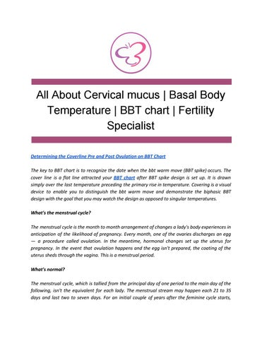 All About Cervical mucus | Basal Body Temperature | BBT chart