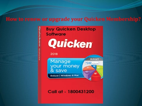 How to renew or upgrade your Quicken Membership? by Cerry