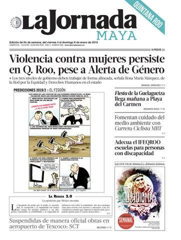 cdf33eb0ab1a7 la Jornada Maya · viernes 4 de enero de 2018 by La Jornada Maya - issuu