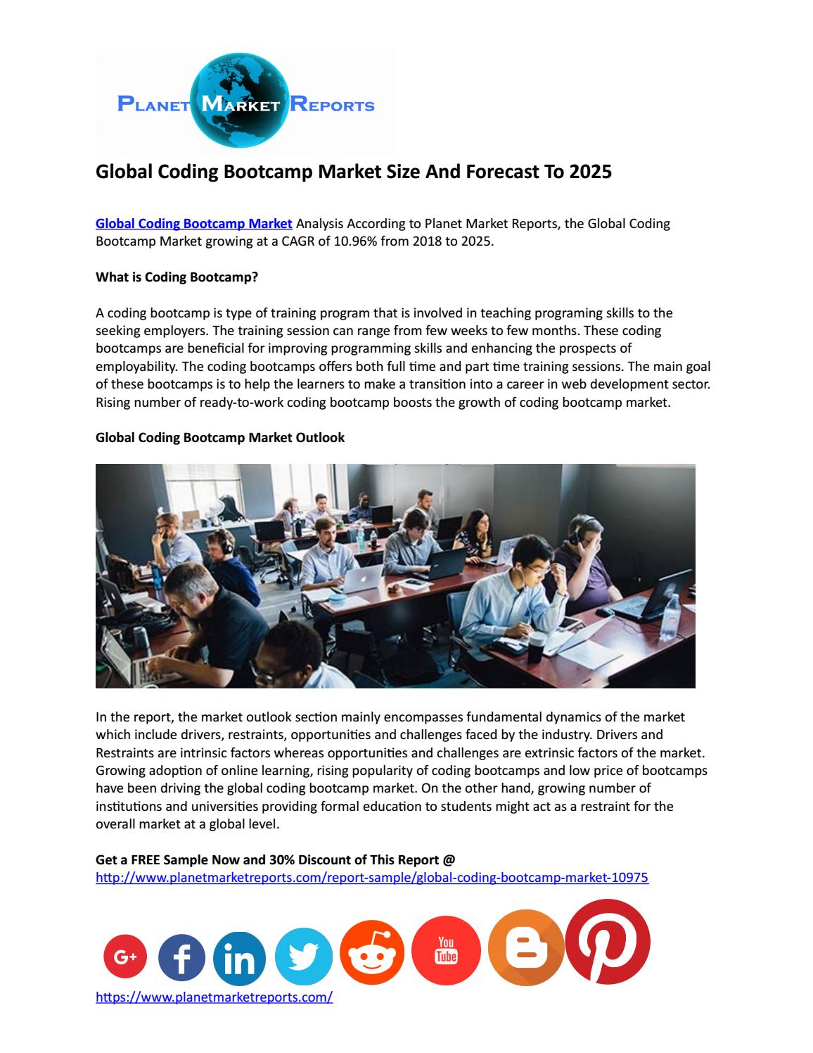 Global Coding Bootcamp Market Size And Forecast To 2025 by