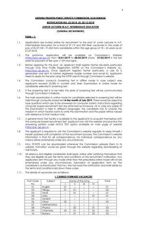 APPSC Biosciences Junior Lecturer Recruitment 2019 by BioTecNika - issuu