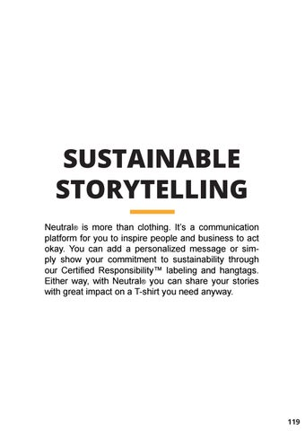 Page 121 of Neutral® Sustainable Storytelling and Customized Productions