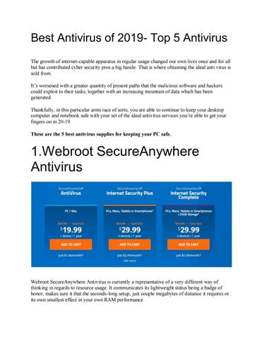 Best Antivirus of 2019- Top 5 Antivirus by Charles swarne - issuu