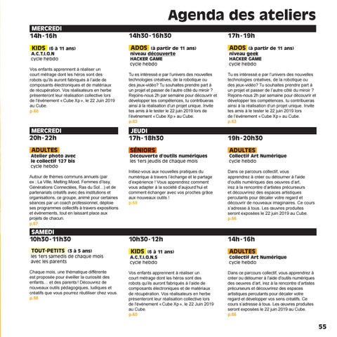 Page 57 of Agenda des ateliers