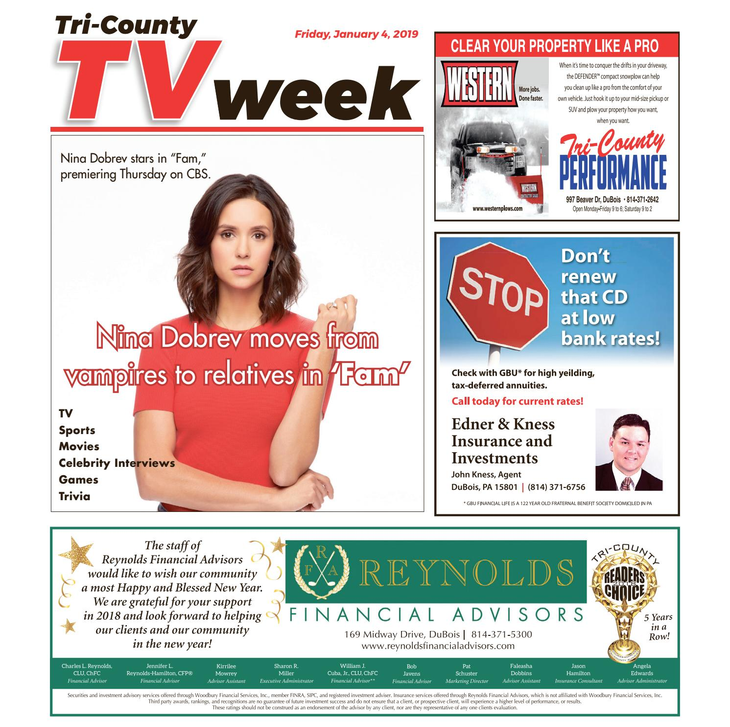 TV Week, Friday, January 4, 2019 by Tri-County TV Week - issuu