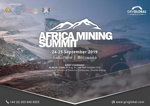 Africa Mining Summit 2019 Brochure by GRV Global - issuu