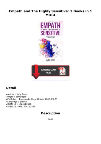Discount Product) Empath and The Highly Sensitive: 2 Books in 1 by
