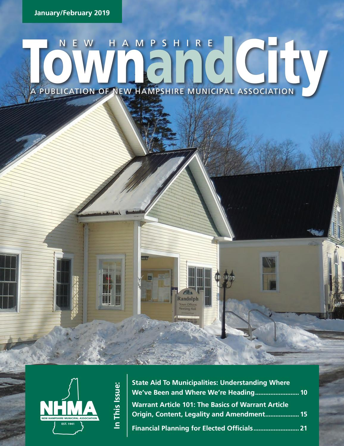 New Hampshire Town and City, January - February, 2019 by New