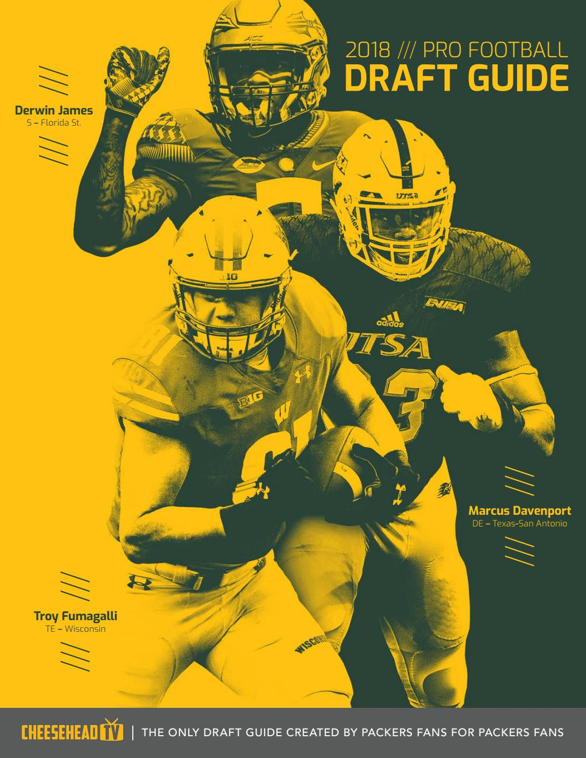 3a1d2120385 2018 CheeseheadTV NFL Draft Guide by Cheesehead TV - issuu