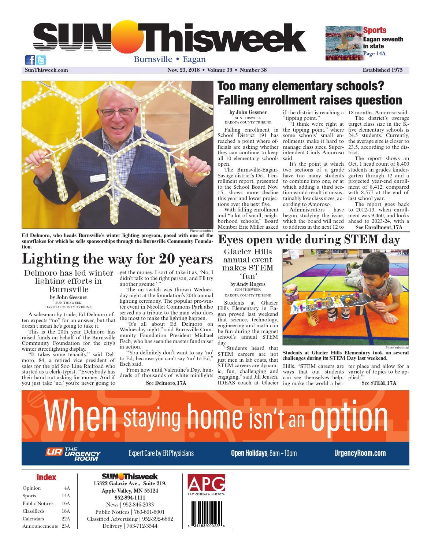 Sun Thisweek Burnsville-Eagan 11-23-18 by Sun Thisweek - issuu