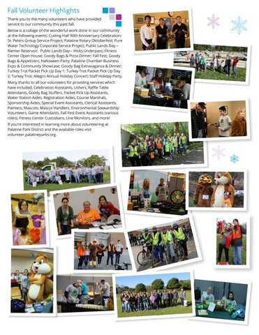 Page 2 of Fall Volunteer Highlights