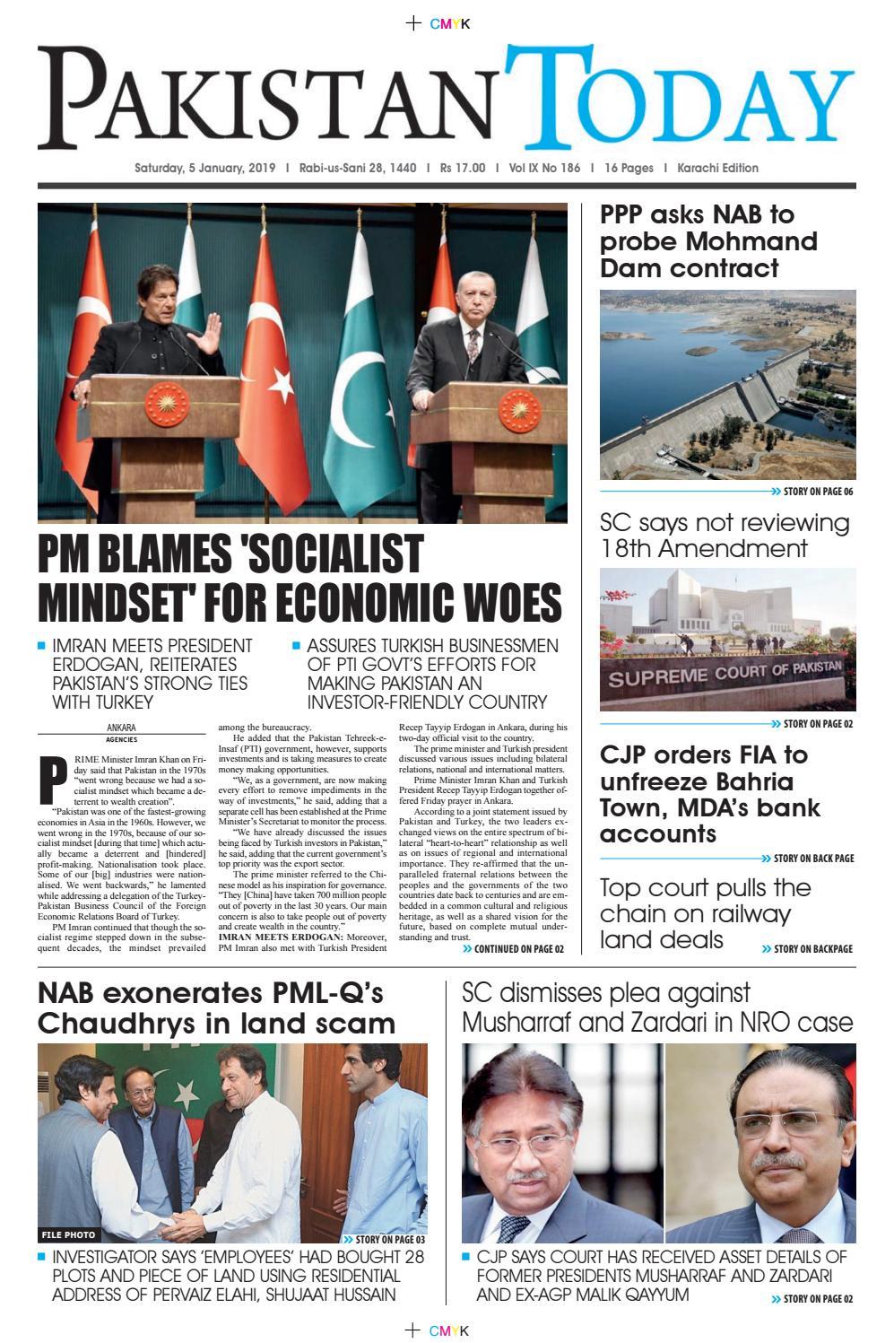 E-Paper PDF 5 January 2019 (KHI) by Pakistan Today - issuu