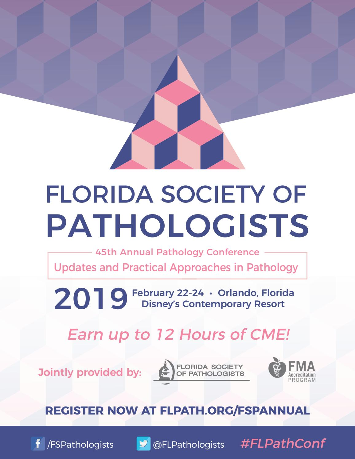 2019 FSP Annual Pathology Conference by Florida Society of