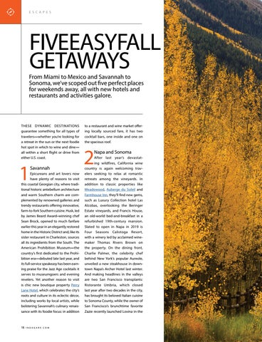 Page 18 of Five Easy Fall Getaways