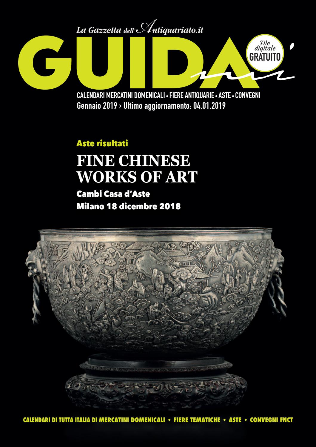 Calendario Aste Antiquariato Italia.Guidami Gennaio 2019 By La Gazzetta Dell Antiquariato Issuu