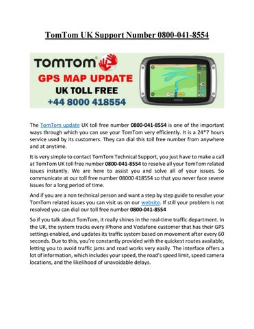 TomTom Update UK Toll Free 0800-041-8554 by TomTom Update