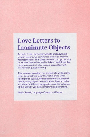 Page 18 of Love Letters to Inanimate Objects