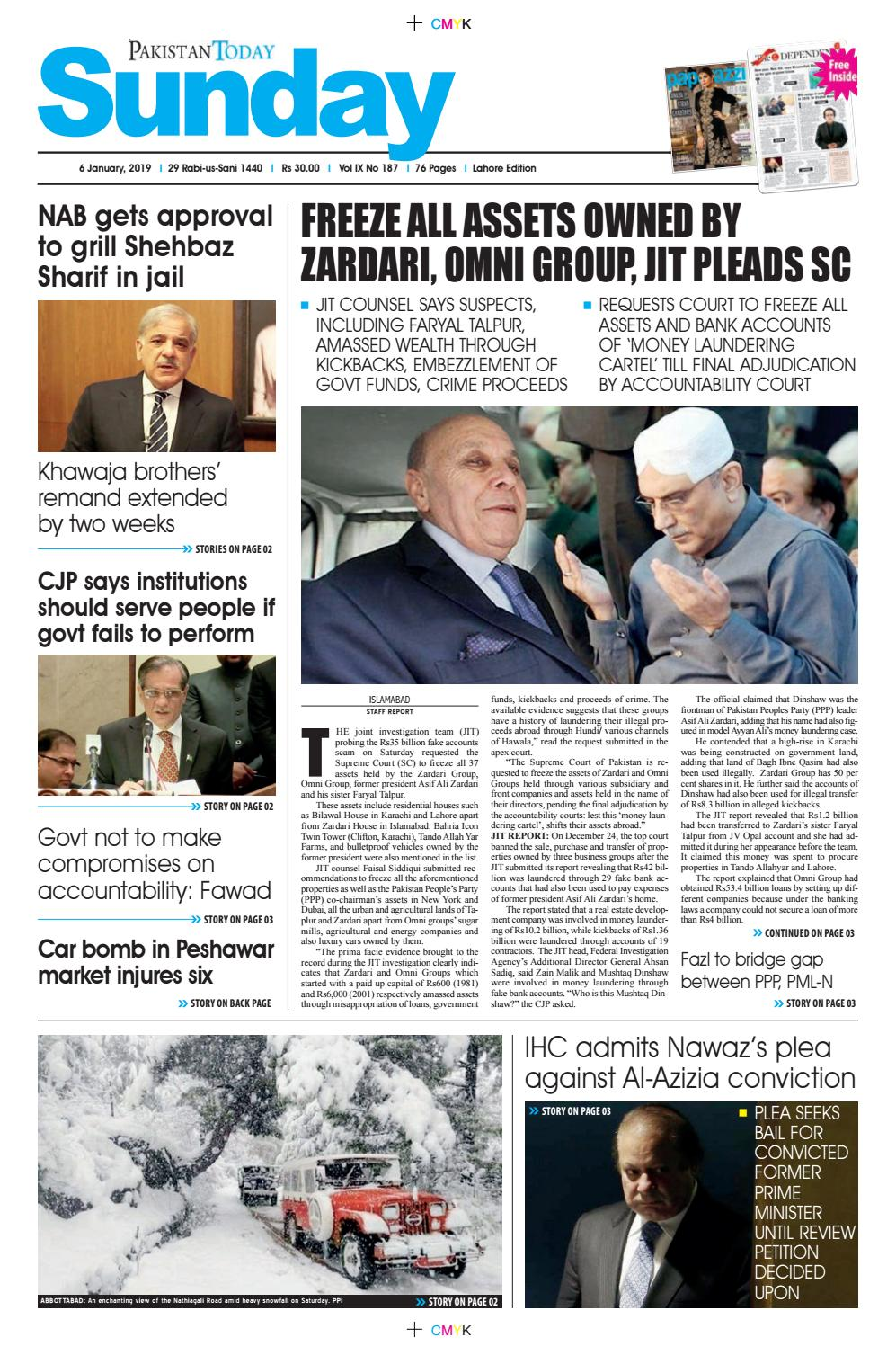 E-Paper PDF 6 January 2019 (LHR) by Pakistan Today - issuu