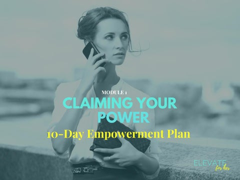 Page 1 of 10-Day Empowerment Plan by Elevate For Her