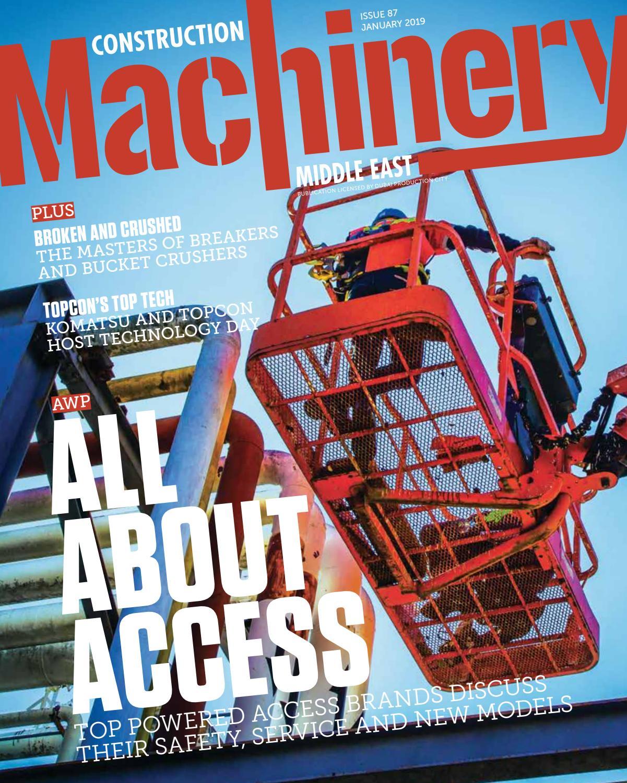 Construction Machinery ME January 2019 by CPI Trade Media - issuu