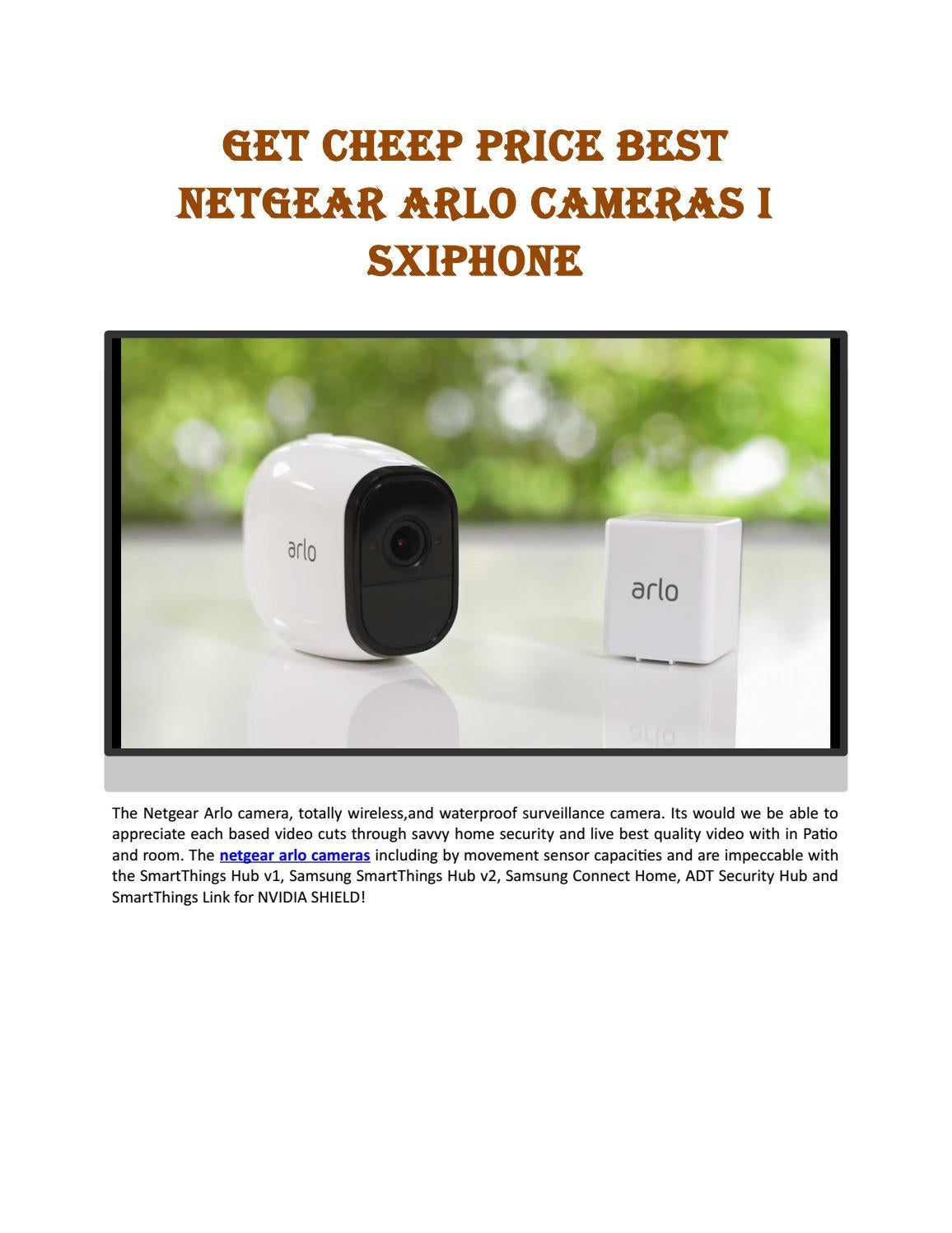 Get Cheep price best Netgear Arlo Cameras I sxiphone by