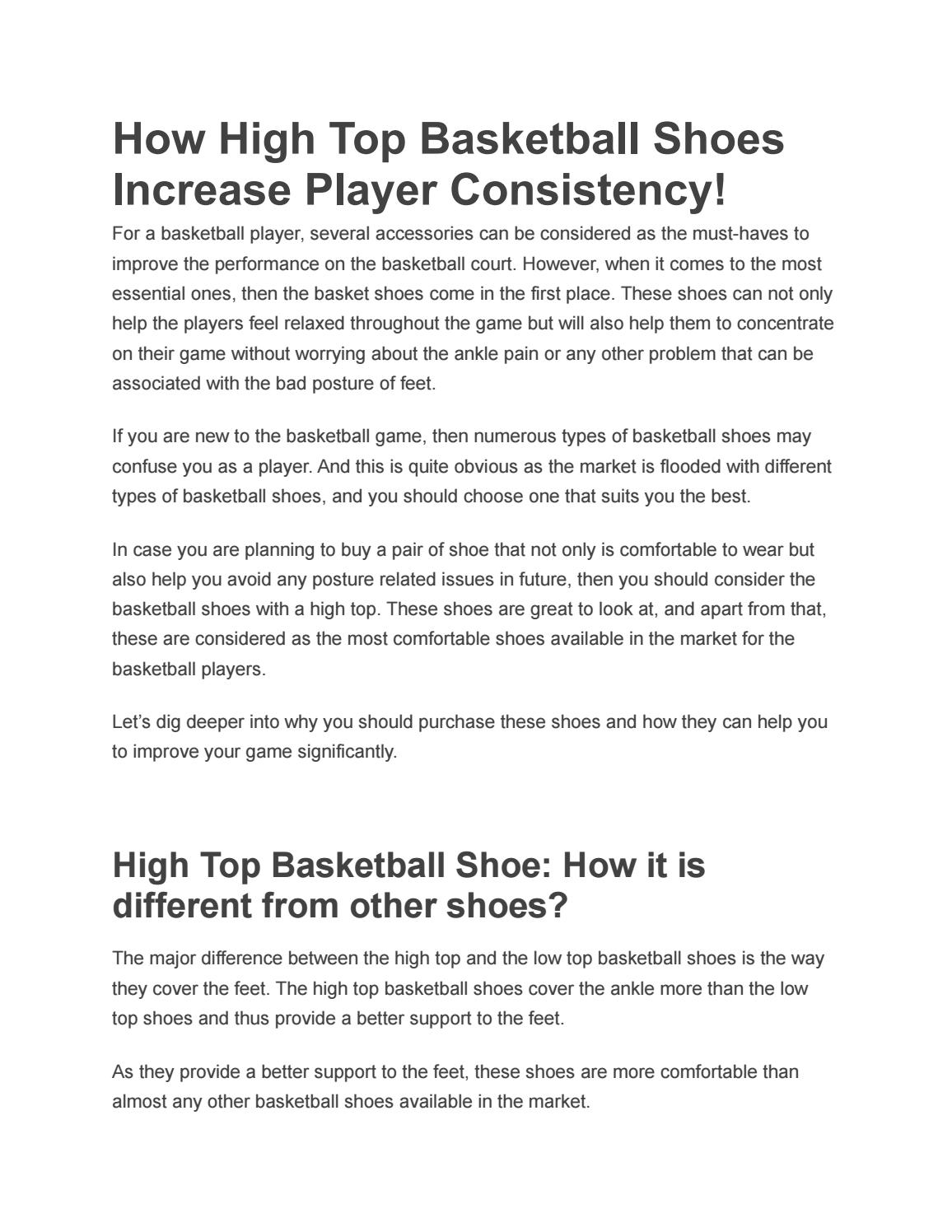 0b7de53e5ae How High Top Basketball Shoes Increase Player Consistency by syedalamin821  - issuu