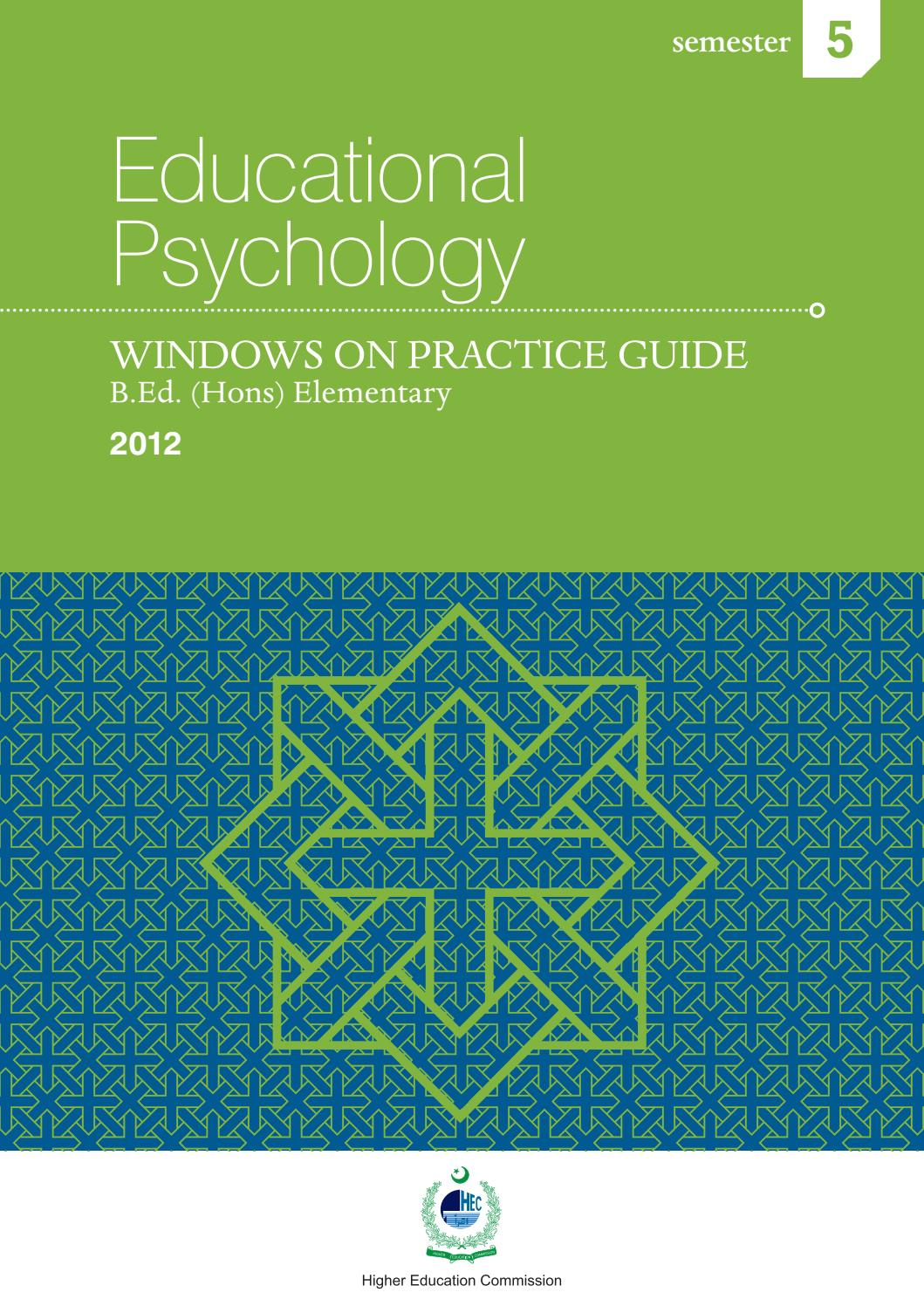 Courses Guide Of Educational Psychology Sept13 By Government