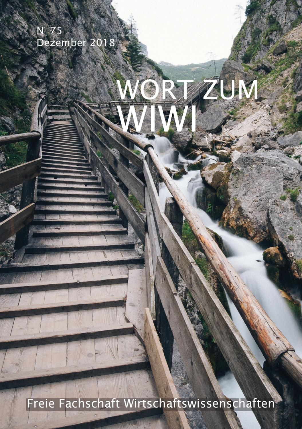 Wort Zum Wiwi Ws18 19 N 75 By Freie Fachschaft Wiwi Uni