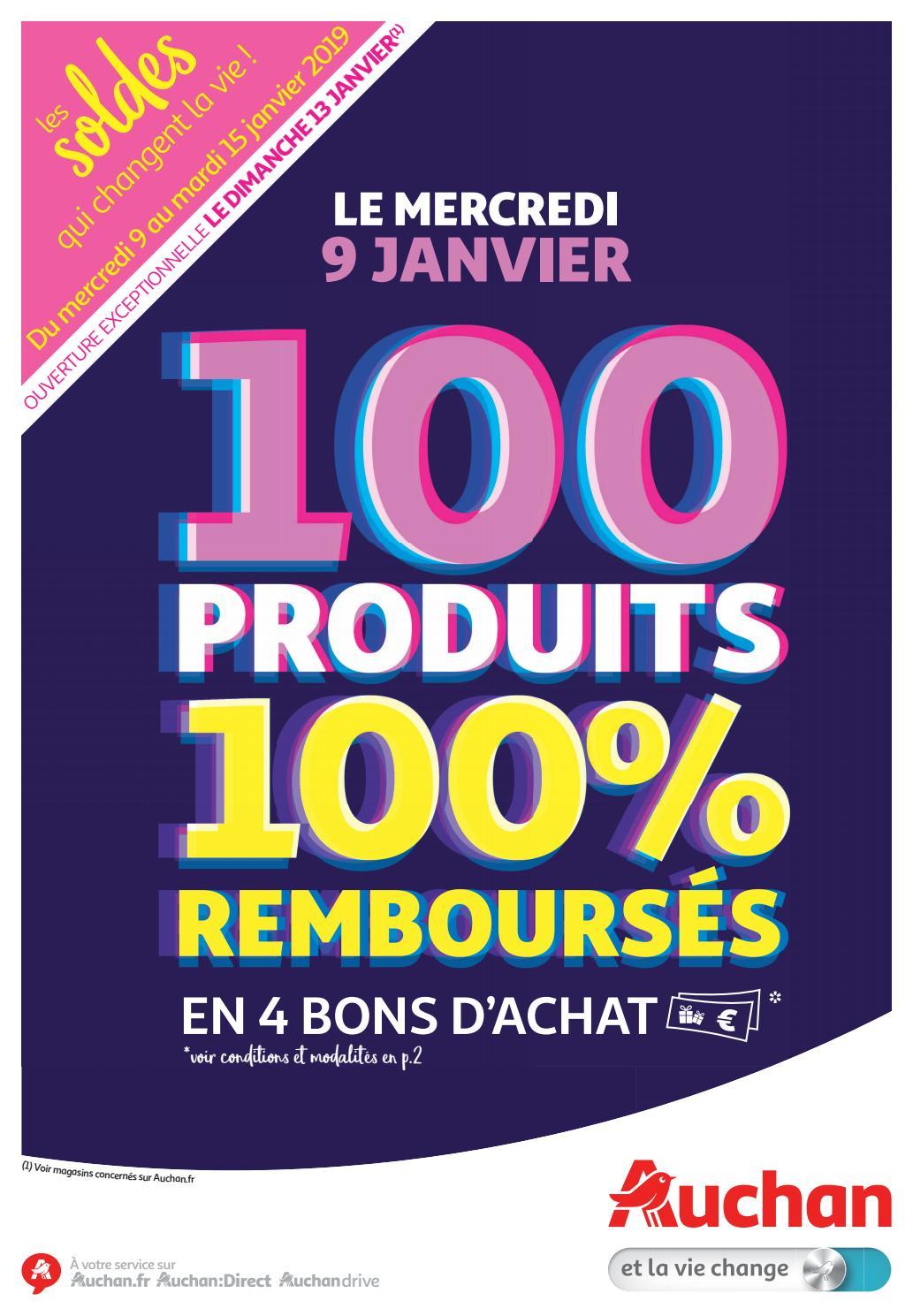 Catalogue 100 Produits 100 Remboursés Soldes Auchan 2019 By