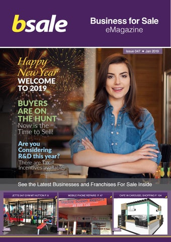 Bsale Business For Sale eMagazine - January 2019 by BSALE Australia
