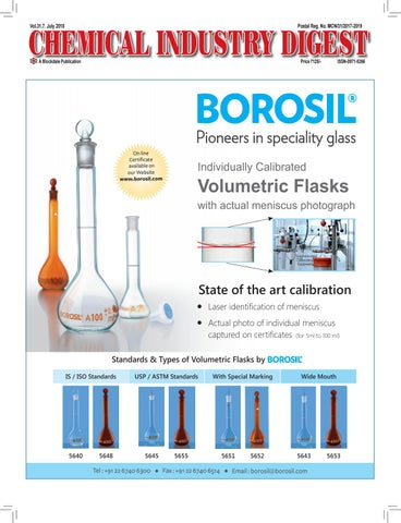 Chemical Industry Digest - July 2018 by Chemical Industry Digest - issuu