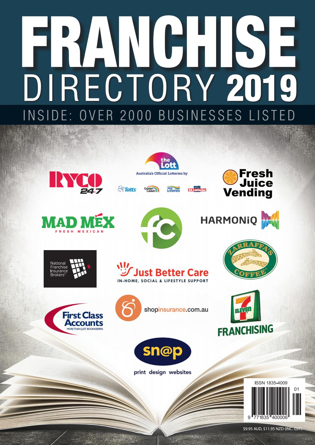 2019 Australia and New Zealand Business Franchise Directory