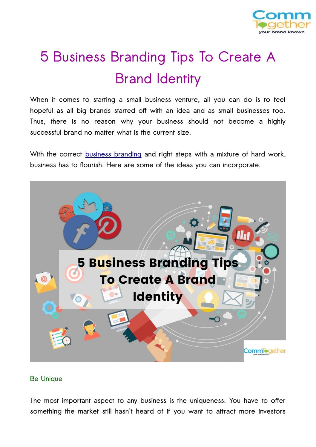5 Business Branding Tips To Create A Brand Identity by