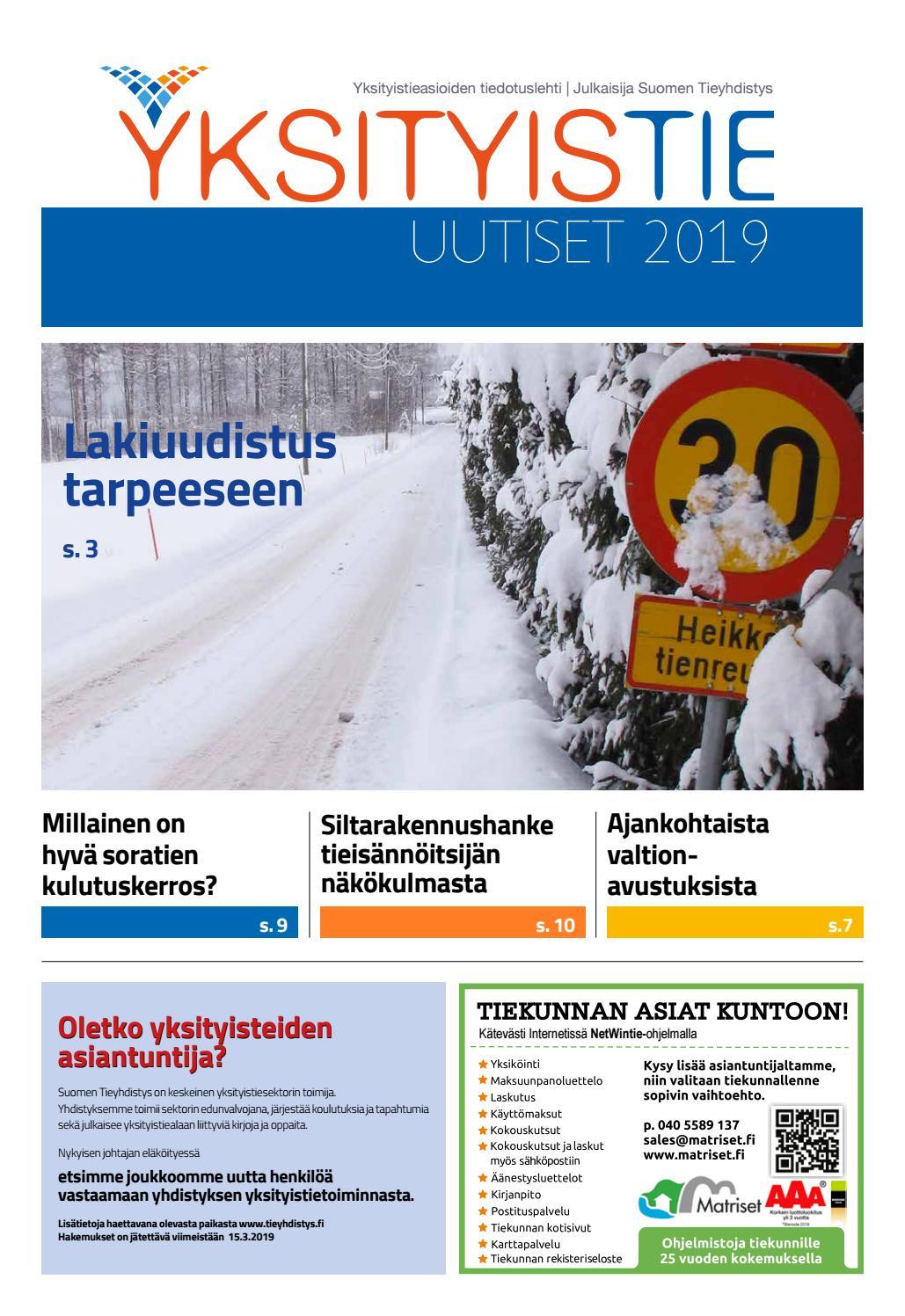 Yksityistieuutiset 2019 by Suomen Tieyhdistys - issuu d06ef8c644