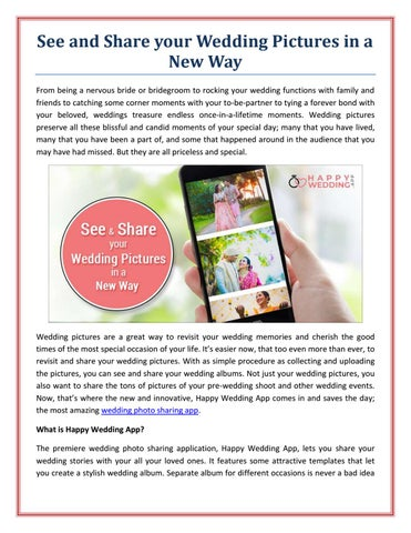 See And Share Your Wedding Albums In Digital Way By Happy Wedding App Issuu