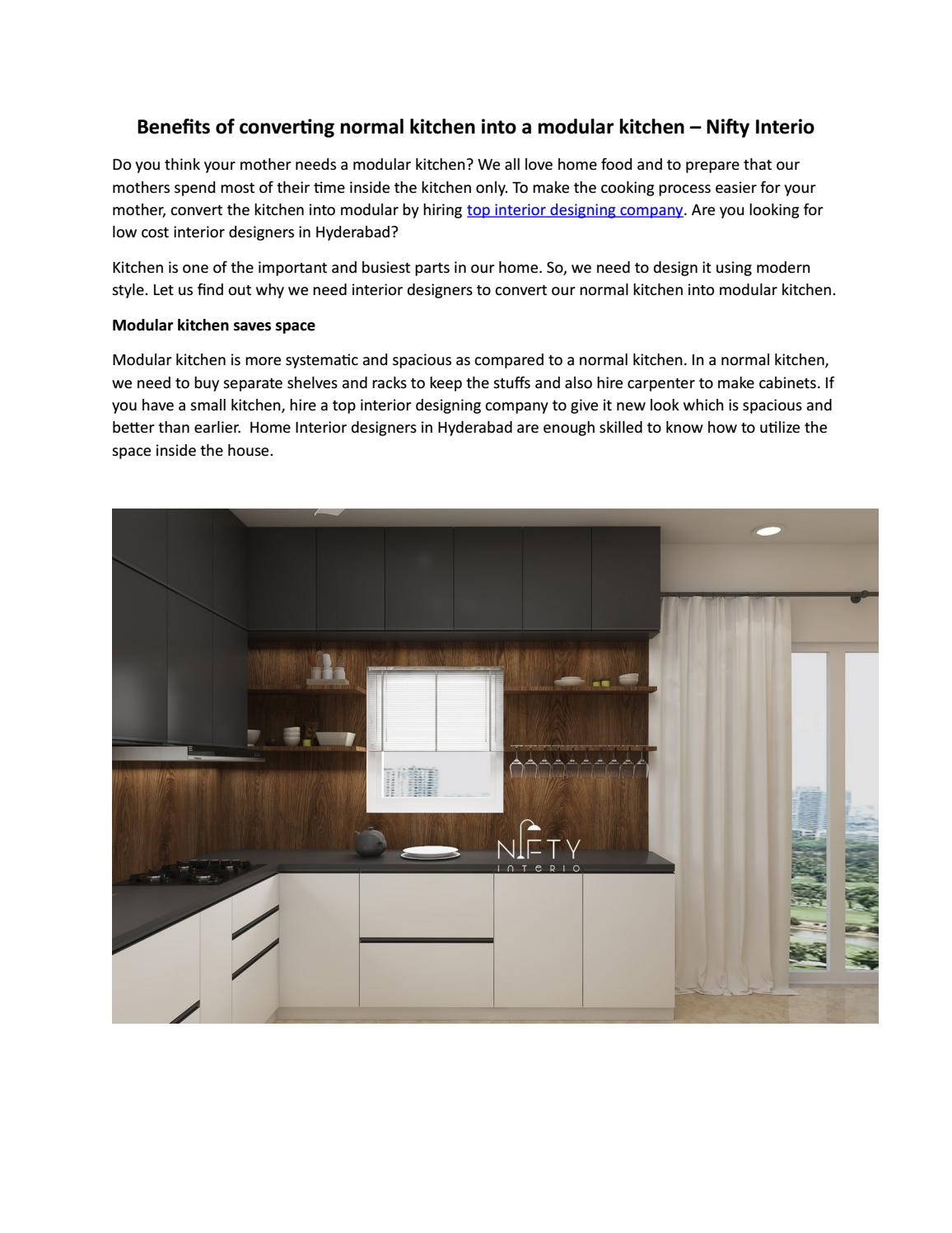 Benefits Of Converting Normal Kitchen Into A Modular Kitchen Nifty Interio By Niftyinterio Issuu