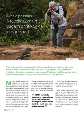 Page 8 of Aves e pessoas: a receita para uma viagem ornitológica inesquecível