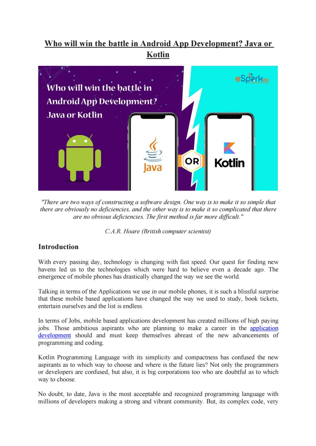 Which is the best Android App Development trend-Java or Kotlin? by