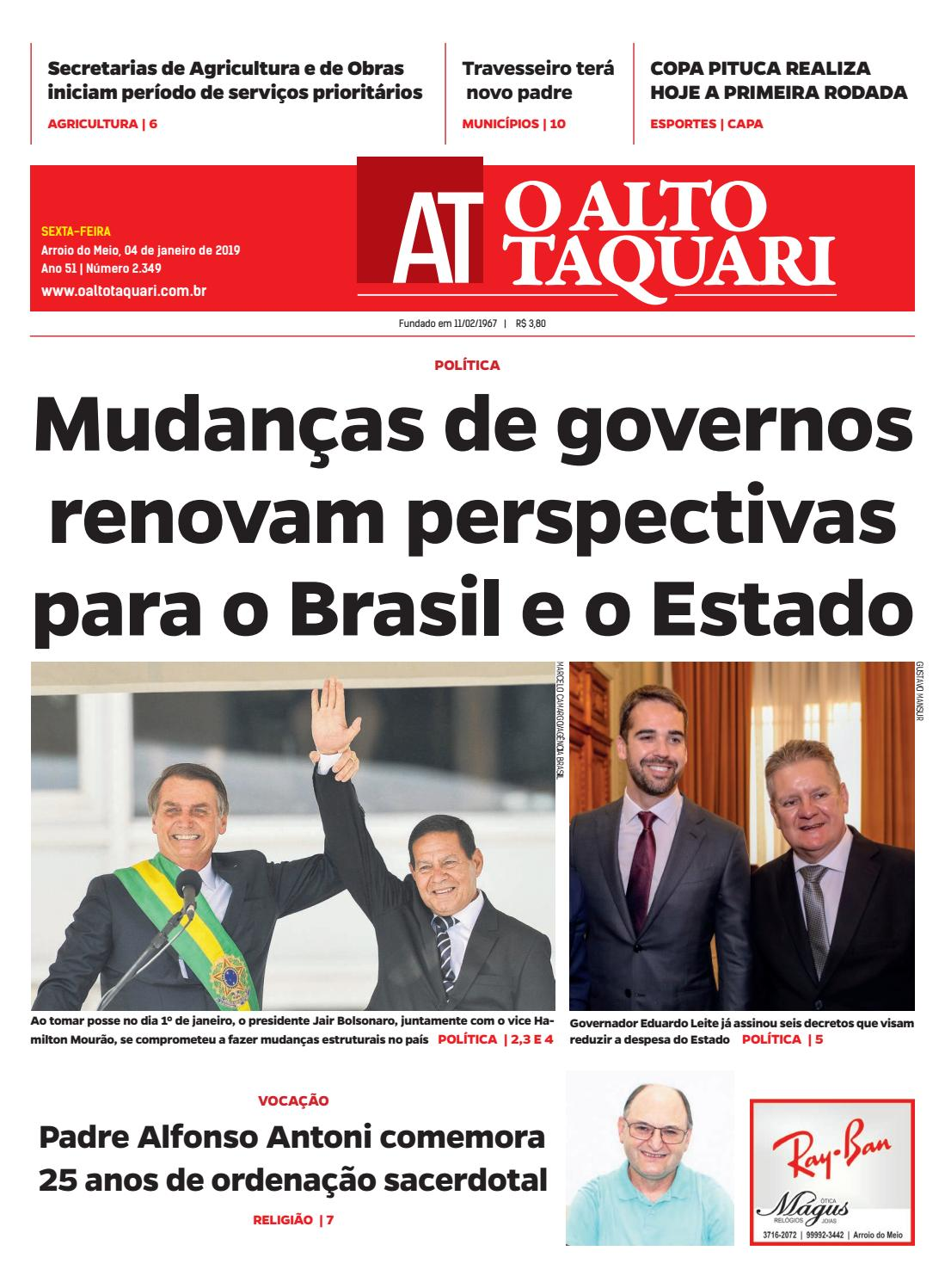 2a8c46b787 Jornal O Alto Taquari - 04 de janeiro de 2019 by Jornal O Alto Taquari -  issuu