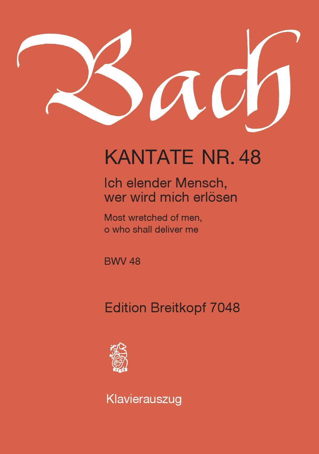 Bach Herr Christ Der Einge Gottessohn Ich Hab In Gottes Herz Und Sinn 2 Stk.