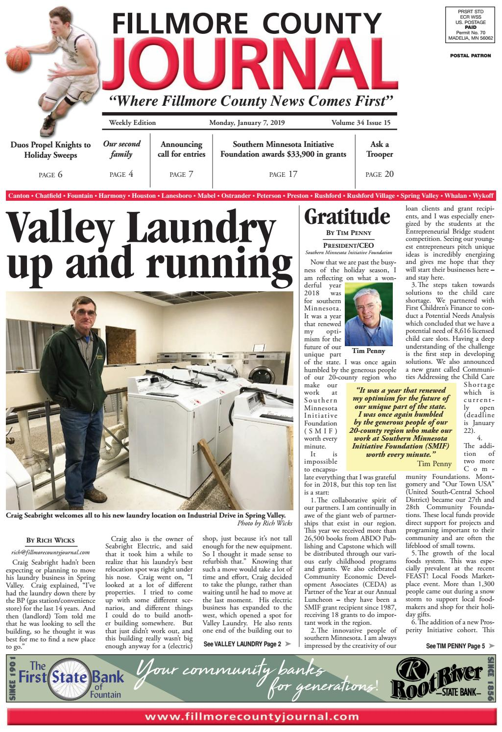 Fillmore County Journal - 1 7 2019 by Jason Sethre - issuu