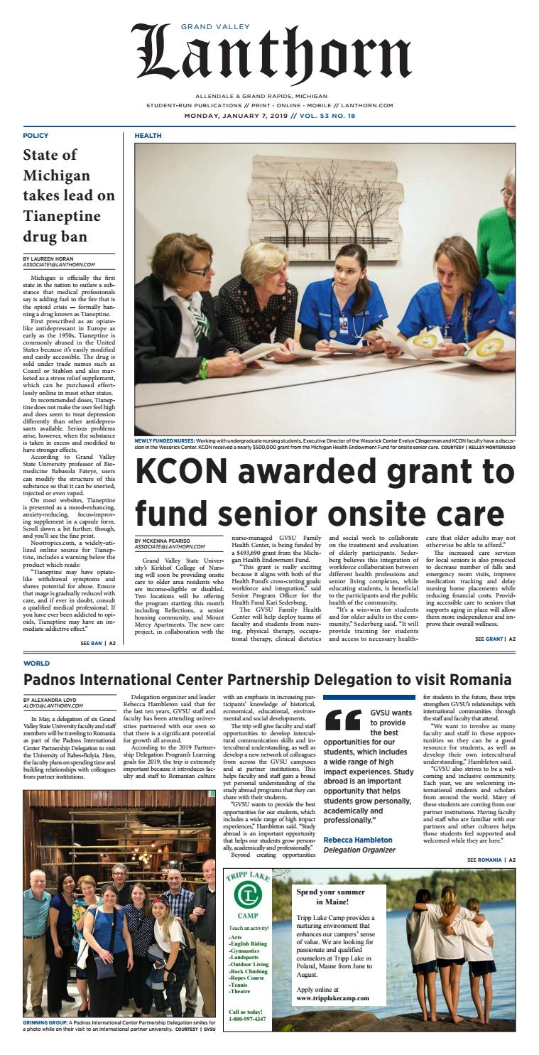 Issue 18, January 7, 2019 - Grand Valley Lanthorn by Grand Valley